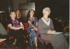 Vicki Noble, Marguerite Rigoglioso, Jodi McMillan, Susan Gail Carter listening (from right to left)