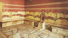 Painting in the presence-chamber of Knossos, Crete
