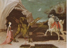 St. Georg kills the animal of the Goddess, painting from Paolo Uccello